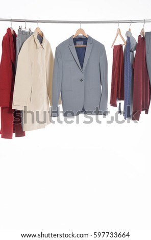 7c805998da1 Mens Different Suit Clothes Coat Jacket Stock Photo (Edit Now ...