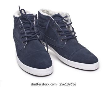 men's fashion shoes isolated on white background
