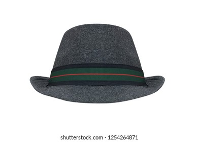 men's gray hat isolated on white background