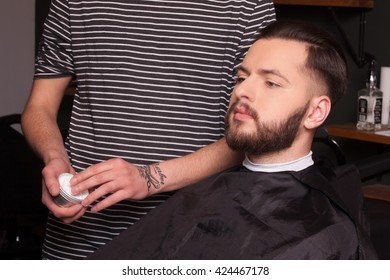 Men's hair salon. Barber shop