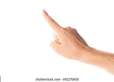 Mens hand isolated on white background