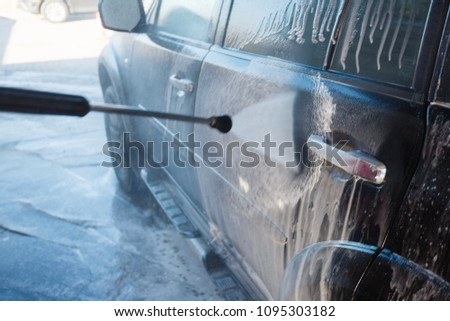 Mens Hand Wash Dirty Suv By Stock Photo Edit Now 1095303182
