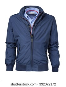 mens jacket isolated on white with clipping path.