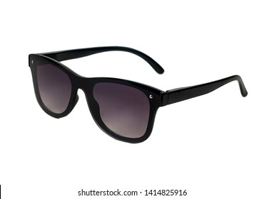 Mens plastic black sunglasses isolated on white background