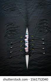 Men's Quadruple Scull - Aerial View