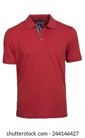 Men's red Polo Shirt isolated