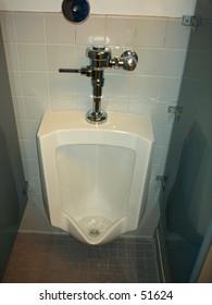 Men's room urinal