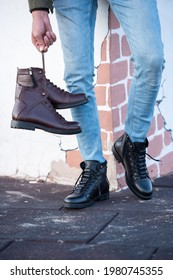 men's shoes models .. male mannequin boots