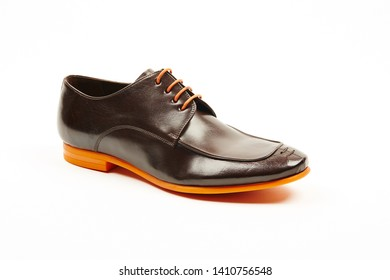 Mens shoes on white background