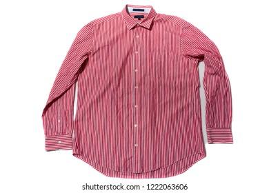Men's Short sleeve casual shirt on white background