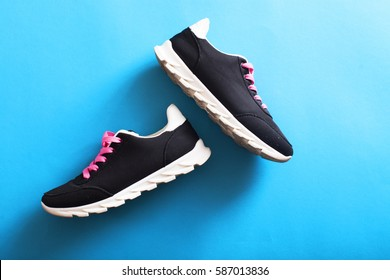 Men's sport shoes. Pair of sport shoes.
