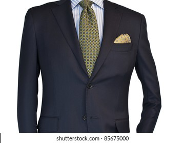 Mens suit and tie