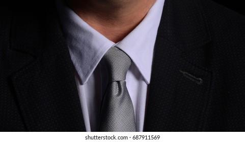 Men's suit and tie. Elegant businessman
