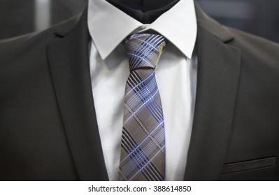 Men's Tie - Suit closeup