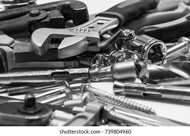 Men's working metal tools of silver color