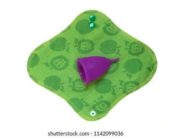 Menstrual cup and reusable washable cloth pad