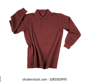 menswear red cotton polo isolated on white