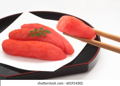 Mentaiko, chili pepper flavored pollack roe/ Spicy Cod Roe, Japanese Food