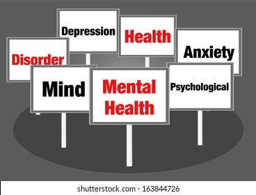 Mental health concept signs