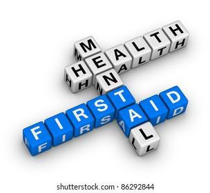 mental health first aid 3d crossword