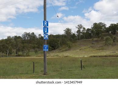 Mental health reminder road sign