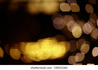 Mentary lights at night