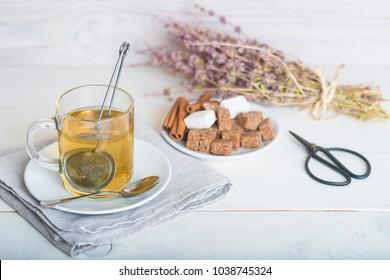 Mentha pulegium or pennyroyal tea made of wild plats