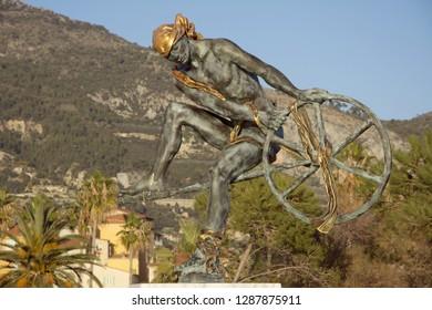 Menton, France - Sculpture of Ulysses - Odyssey