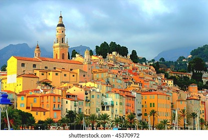 Menton village, south of France