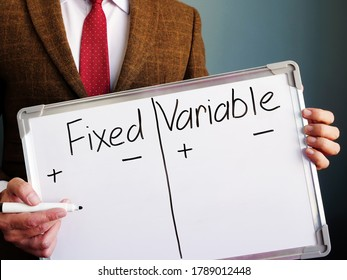 Mentor shows the fixed and variable costs difference.