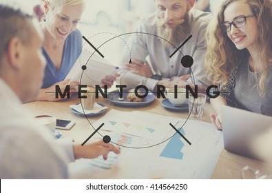 Mentoring Guiding Leader Teacher Coach Helping Concept