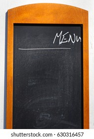 Menu board of a restaurant