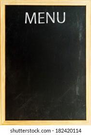 Menu card - old black board