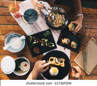 Menu and food art