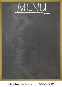 Menu on Blackboard outside the restaurant