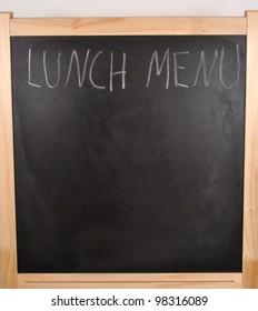 Menu on the board - blank board