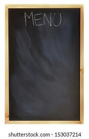 """""""MENU"""" written on a blackboard"""