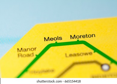 Meols Station. Liverpool Metro map.