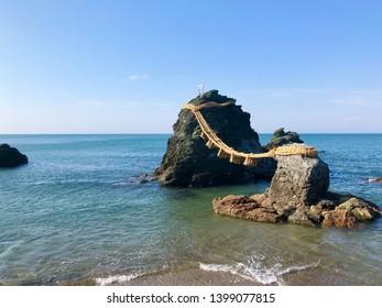 Meoto Iwa (Married Couple Rocks) in Futami, Mie, Japan