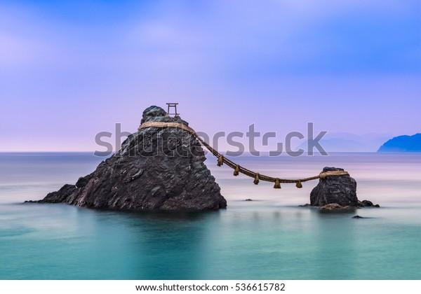 Meoto Iwa Rocks, Futami, Mie Prefecture, Japan.