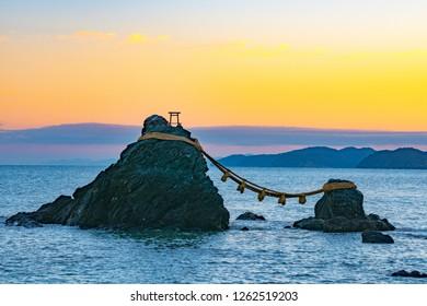 Meoto Iwa Rocks (Married Couple Rocks), Futami, Mie, Japan