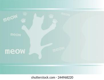 meow cat background illustration