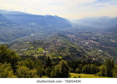 Meran and the valley of Adige in South Tyrol, Italy