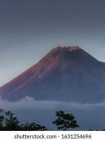 Merapi Volcano Close up - Yogyakarta, Indonesia