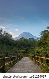 Merapi Volcano from Klangon - Yogyakarta, Indonesia