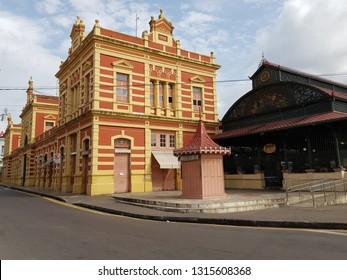 Mercado Adolpho Lisboa Manaus, built 1880-1883. Amazon, Brazil