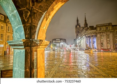 Mercat Cross in Aberdeen at Night