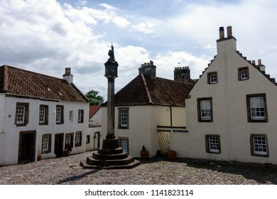 Mercat cross, a square in Culross, Scotland was used for shooting location for series Outlander