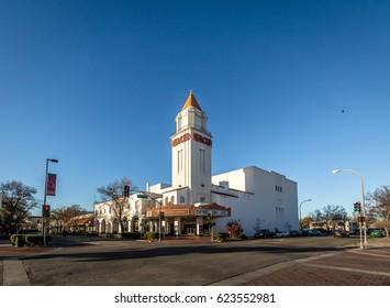 MERCED, USA - January 4, 2016: Merced Theater - Merced, California, USA