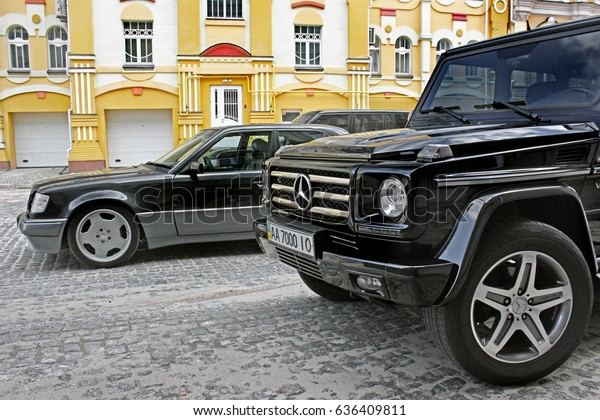 Mercedes E500 W124 Wolf Mercedes G55 Stock Photo (Edit Now) 636409811